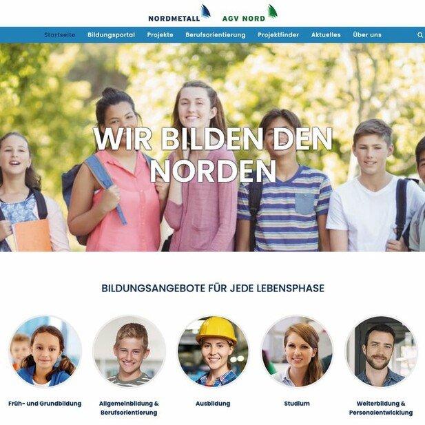 """Hilfreiches Angebot: Die Website """"Wir bilden den Norden"""" ist eine Initiative der Verbände Nordmetall und AGV Nord."""