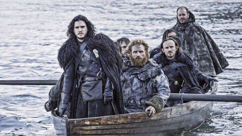 """Anführer: Jon Schnee, Serienheld bei """"Game of Thrones"""", verkörpert von Kit Harington (vorne)."""
