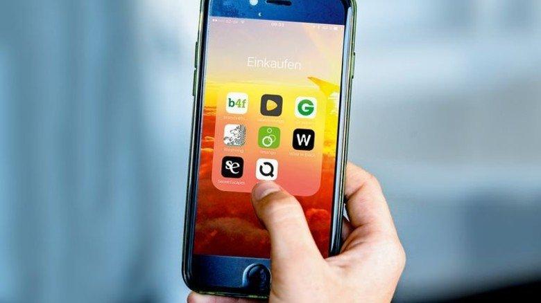 Auf einen Blick: Die Shopping-Clubs kann man natürlich auch über deren Apps ansteuern. Foto: Straßmeier