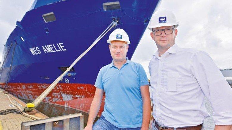 Pioniere: Reeder Gerd Wessels (links) und sein Prokurist Christian Hoepfner. Foto: Augustin