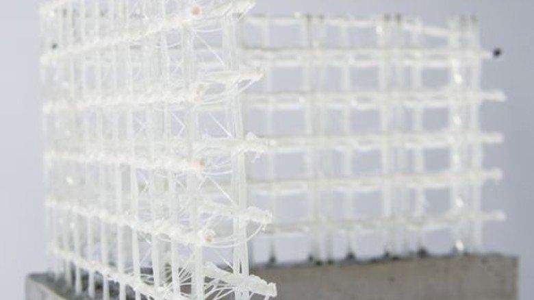 Textilgitter: 70 Prozent weniger Zement notwendig. Foto: ITA