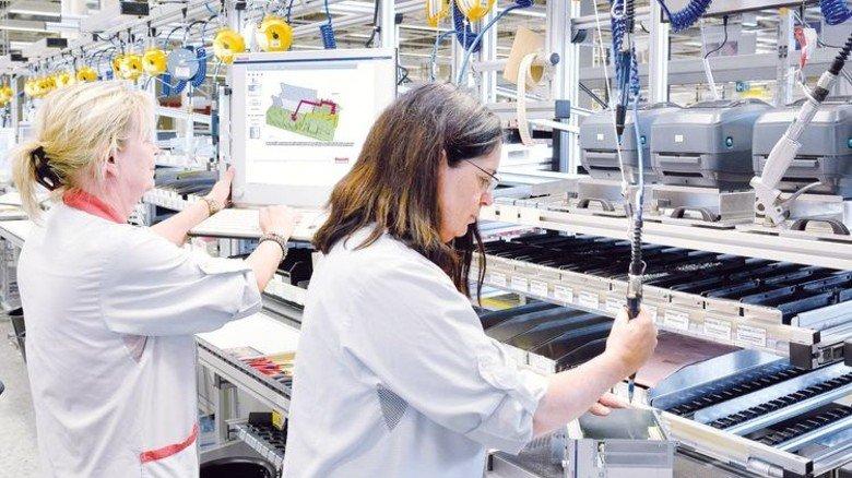 Fertigung bei Bosch Rexroth in Erbach: Maßgeschneiderte Prozesstechnologie für die eigene Produktion und auch für Kunden. Foto: Scheffler