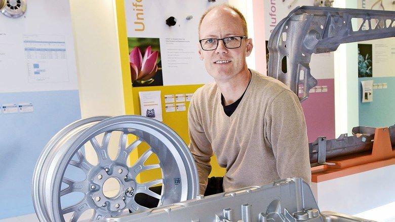 Macht Autos leichter und sicherer: Materialentwickler Stuart Wiesner.