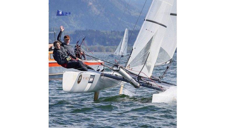 Thrill beim Segeln: Ehepaar Gäbler in Fahrt. Foto: Werk
