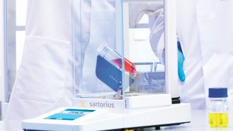 Analysenwaage: Sartorius vertreibt sie in 110 Ländern. Foto: Werk