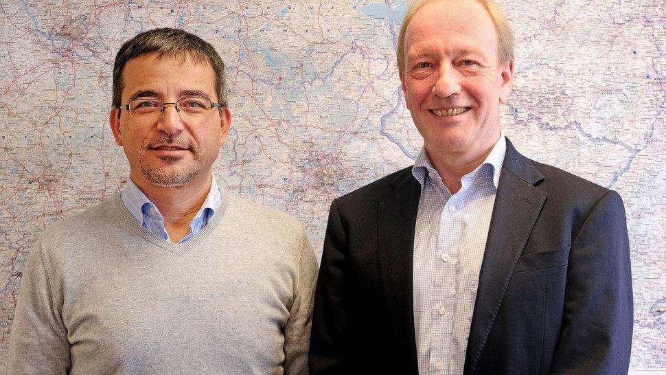 Geschäftsführer Rami Ismael und Matthias Stümcke (rechts).