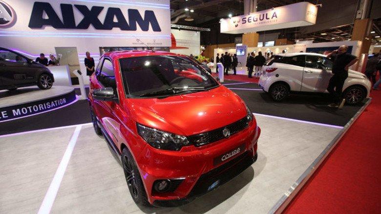 Täuschend echt: Viele Leichtfahrzeuge, wie etwa dieses von Aixam, sind auf den ersten Blick kaum von einem klassischen Kleinwagen zu unterscheiden. Foto: dpa