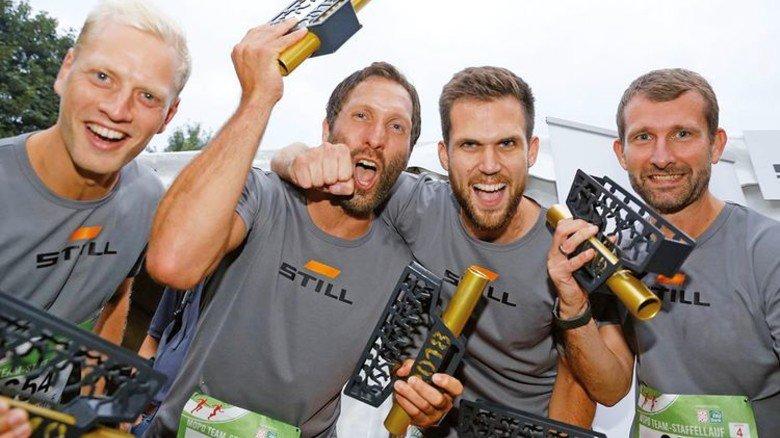 Gemeinsam stark: Mitarbeiter von Still nach dem Hamburger Lauf. Foto: Still
