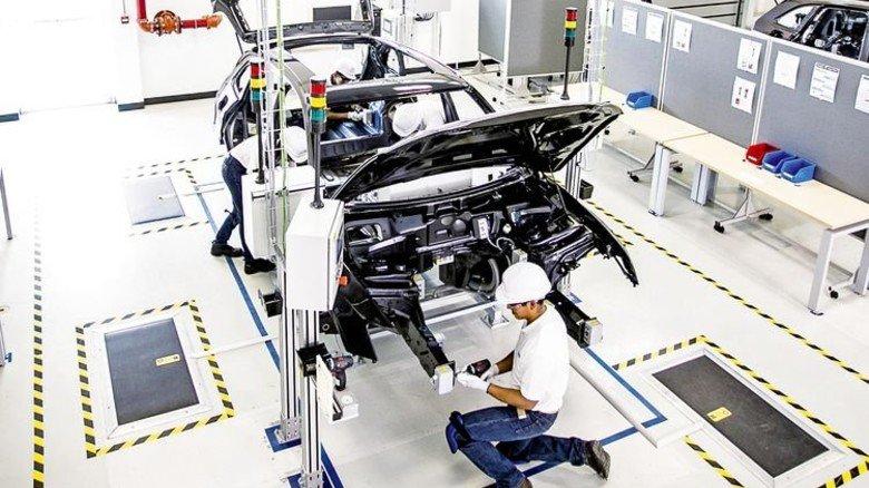 Neues Werk: Die Audi-Produktion in Mexiko lief jetzt mit Unterstützung aus Deutschland an. Foto: Werk