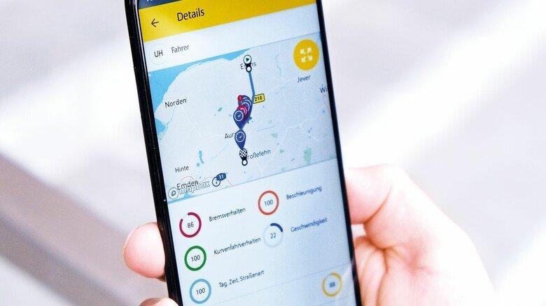 Tracking per App: Vom Kurvenverhalten bis zur Beschleunigung – der Telematik-Versicherung entgeht nichts mehr.