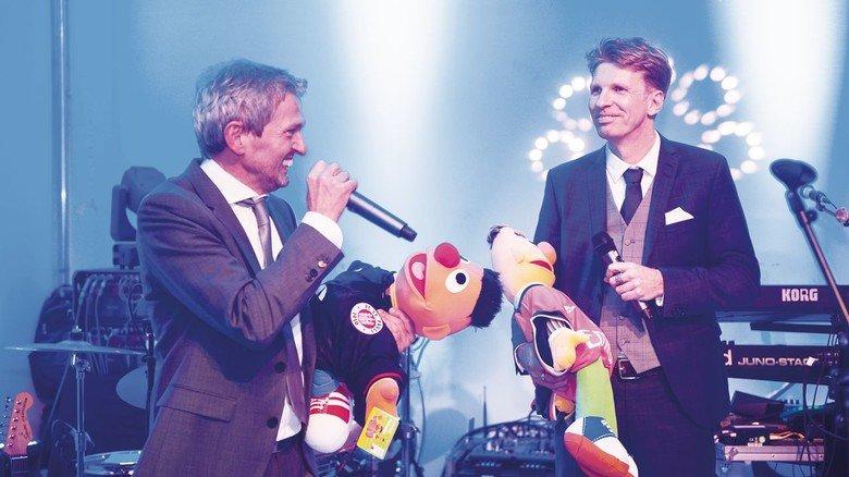 Die Gründer: Matthias Fricke (links) und Manfred Garz bei der 25-Jahr-Feier ihrer Firma.