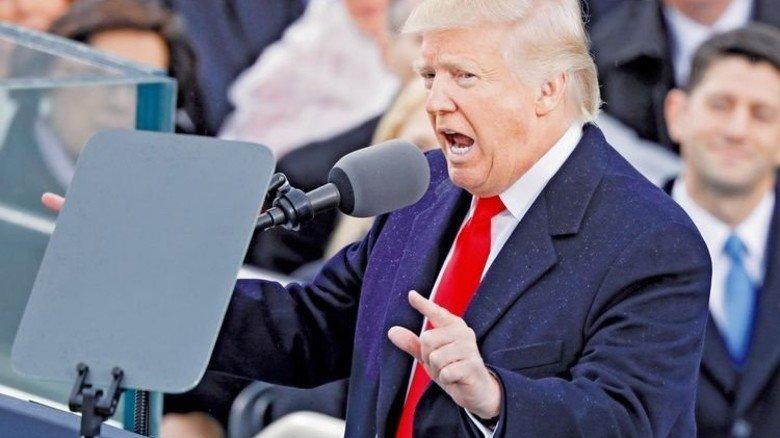 Amerika zuerst: Donald Trump bei seiner Antrittsrede. Foto: Reuters
