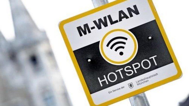Moderner Service: Kostenloses Netz im Zentrum Münchens. Foto: dpa