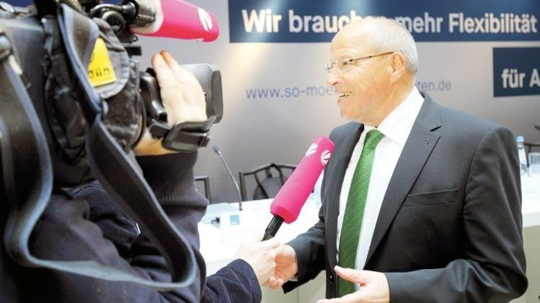 Stellte die Kampagne vor: Alfred Gaffal, der Präsident der vbw. Foto: vbw