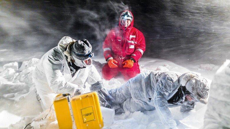 Einsatz auf dem Eis: Über 400 Experten aus zahlreichen Ländern waren an der Expedition beteiligt.