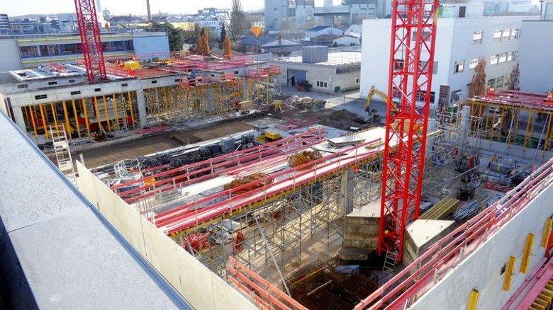 Neubau: Hier entsteht das neue Produktions- und Logistikzentrum von HBM in Darmstadt. Foto: Werk