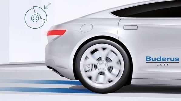 Die neue Bremsscheibe der Bosch-Tochter Buderus verursacht 90 Prozent weniger Bremsstaub als herkömmliche Bremsscheiben. Foto: Werk