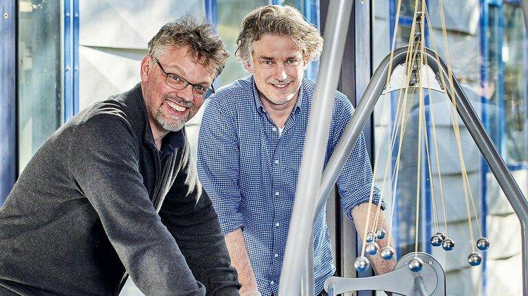 Zusammenarbeiten: Axel Hüttinger (rechts) und sein Bruder Jörg waren schon als Kinder ein Team.