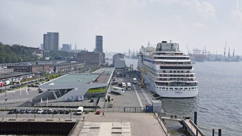 Pionier-Projekt: Die Hamburger Landstrom-Anlage am Kreuzfahrt-Terminal in Altona. Foto: Hafen Hamburg