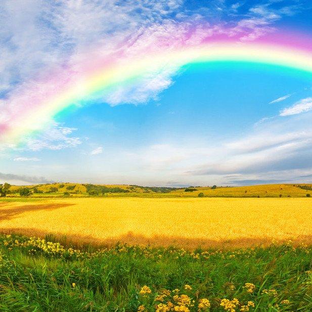 Alles wird gut: Der Regenbogen als Symbol für den Glauben an einen guten Ausgang einer schweren Krise.