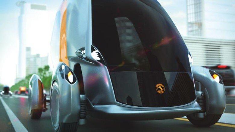 Wird per App gerufen: Das elektrisch betriebene Konzeptfahrzeug BEE. Foto: Werk
