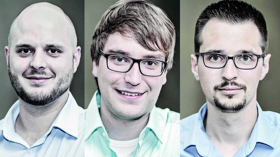 """Benjamin März, Pascal Mohr und Daniel Wilhelm, Gründer und Geschäftsführer von 3Dimetik in Kassel: """"Wir liefern nicht nur stumpfe Messergebnisse, sondern sagen auch, was sie bedeuten."""""""