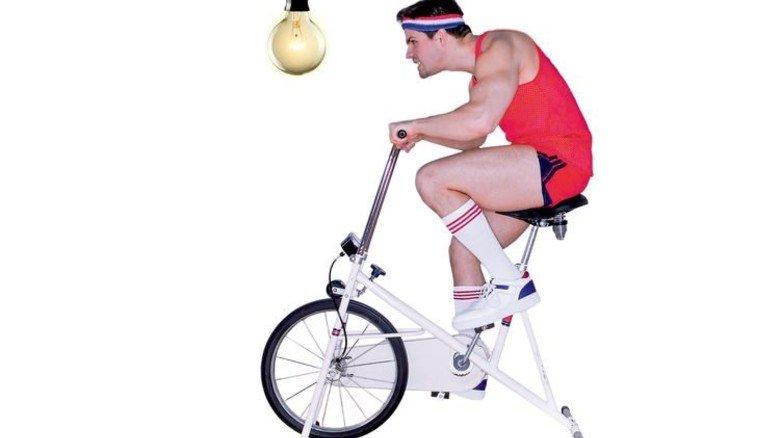 Pedal-Power: Reicht immerhin fürs Deckenlicht und kräftigt die Schenkel. Fotos: Getty, Fotolia