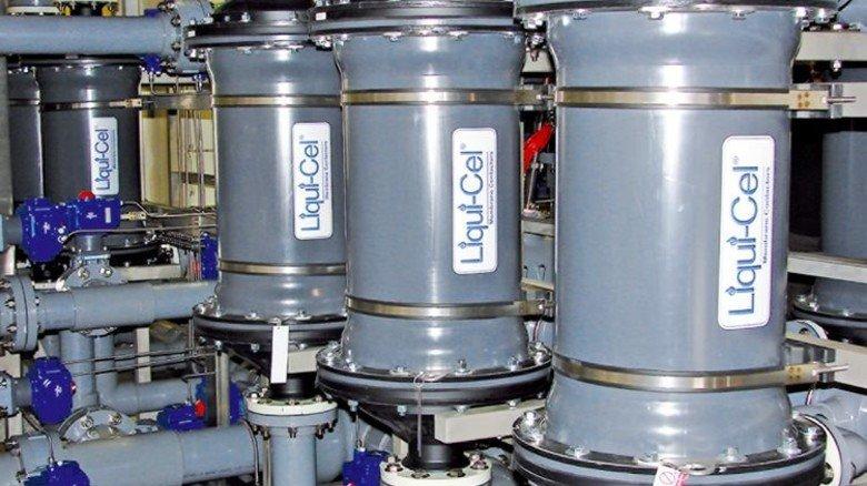 Kompakt: Die Membran-Module werden in der Rohrleitung eingebaut. Foto: Werk