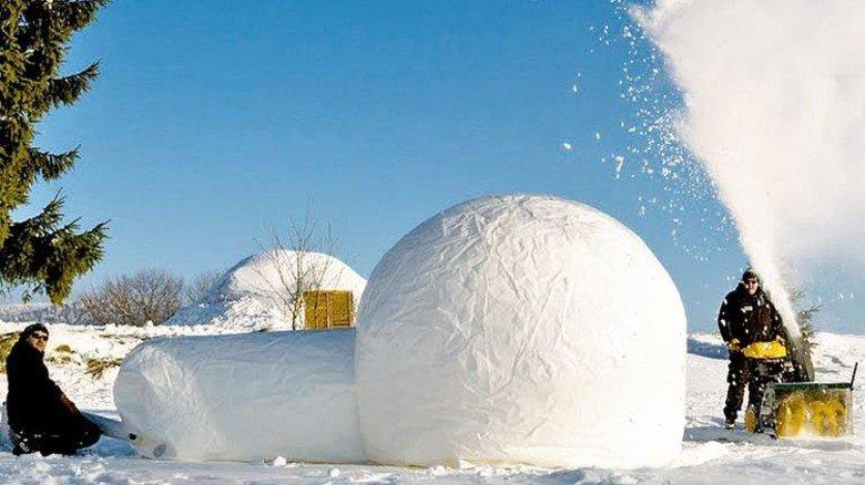 Eispaläste für Schnee-Architekten: Igludorf Bayerwald in Mauth. Foto: Bayerwald Travel GBR