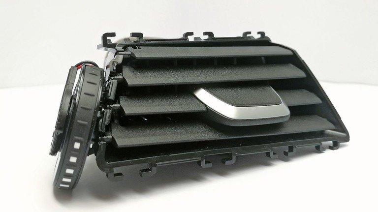 Leichte Kunststoff-Lamellen: Sie regeln den Luftstrom im Inneren von Fahrzeugen.