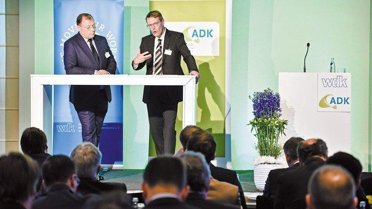 Präsidenten der Branche: Ralf Holschumacher vom Wirtschaftsverband wdk und Sven Vogt vom Arbeitgeberverband ADK.