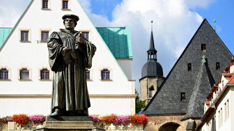 Arm, aber berühmt: Martin Luthers Geburts- und Sterbeort Eisleben liegt in der steuerschwächsten Kommune Deutschlands, dem Landkreis Mansfeld-Südharz in Sachsen-Anhalt.