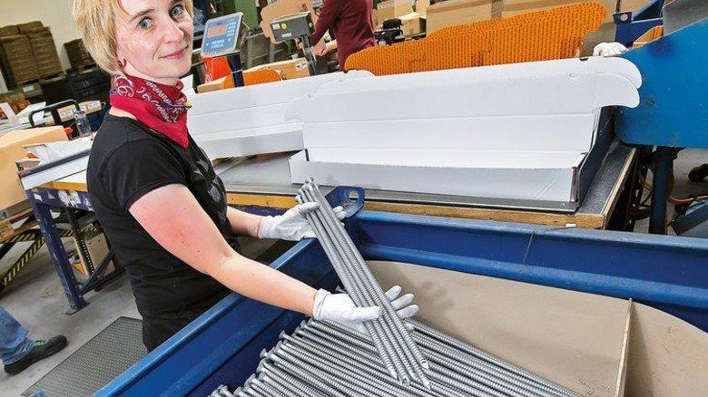 Nichts für Heimwerker: Solche Schrauben kommen auf Baustellen zum Einsatz. Foto: Mierendorf
