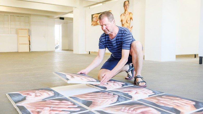 Holte sich Rat bei Unternehmern: Künstler Nikolaus Reinecke ist von der Krise wirtschaftlich betroffen.