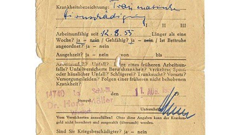 Ein Klassiker des deutschen Sozialstaats: Den gelben Schein gibt es schon seit Jahrzehnten. Foto: BlackIceNRW