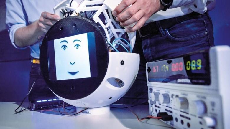 Runde Sache: Die Außenschale des Roboters wurde im 3-D-Druck hergestellt. Foto: Rolf Schwark/Airbus