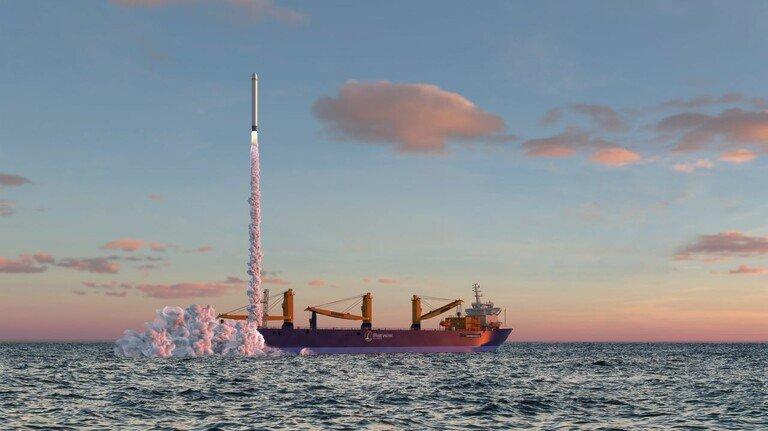 Konzept: Die Planer sind davon überzeugt, dass die ersten Raketenstarts auf der Nordsee schon 2023 stattfinden können.