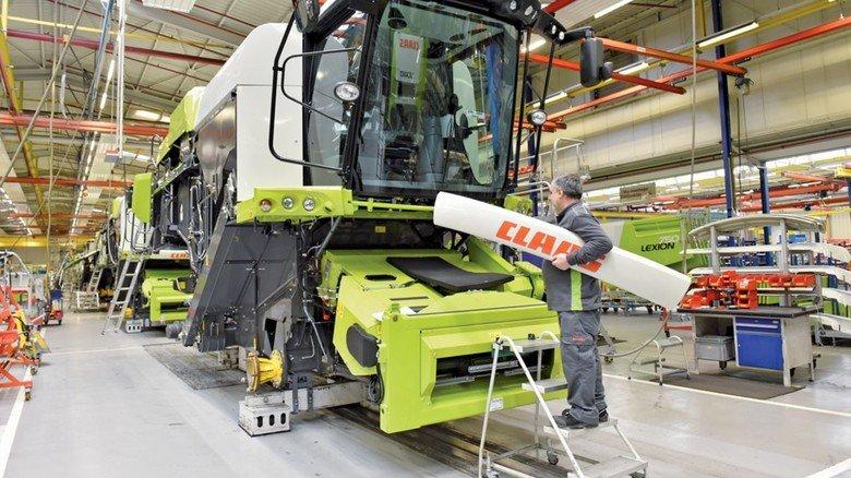 Montage am Stammsitz in Harsewinkel: Claas ist bei Mähdreschern europaweiter Marktführer.