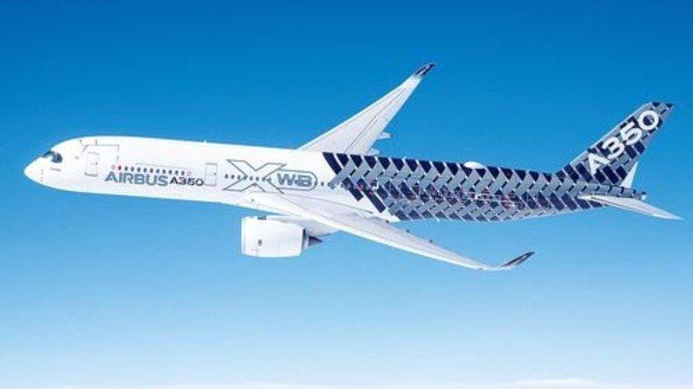 Testflug: Formgebung und Leichtbauweise zeichnen den A350 aus. Foto: Werk