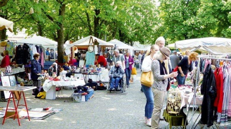 Beliebt: Der große Frühjahrsflohmarkt in der Stuttgarter City. Foto: Märkte Stuttgart