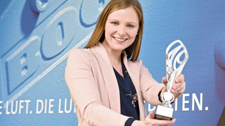 Große Freude: Marilena Oberhaus und ihr Team haben den ersten Platz erzielt.