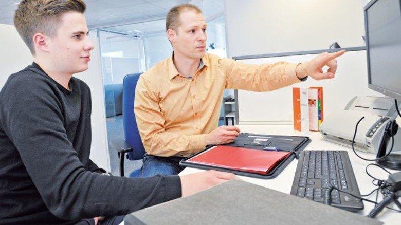 Wissensdurstig: Ralf Händle, ein angehender Industriekaufmann. Foto: Sigwart