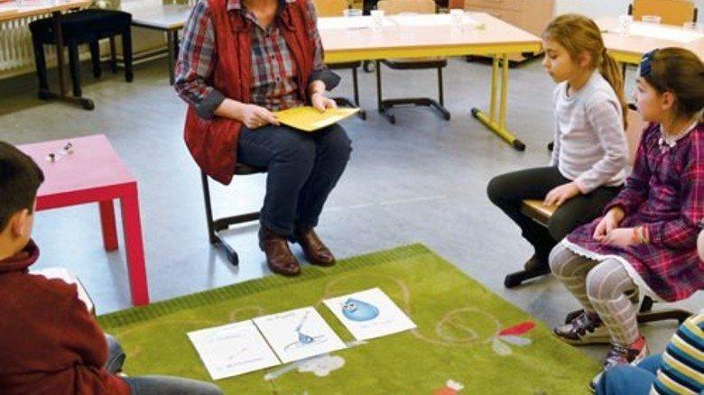 Schön klein: Sprachlerngruppe an der Pestalozzi-Schule. Foto: Wasserscheidt