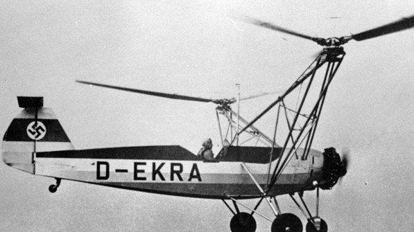 Premiere: 1936 hob der erste Helikopter der Welt ab. Erfinder ist der deutsche Ingenieur Henrich Focke.