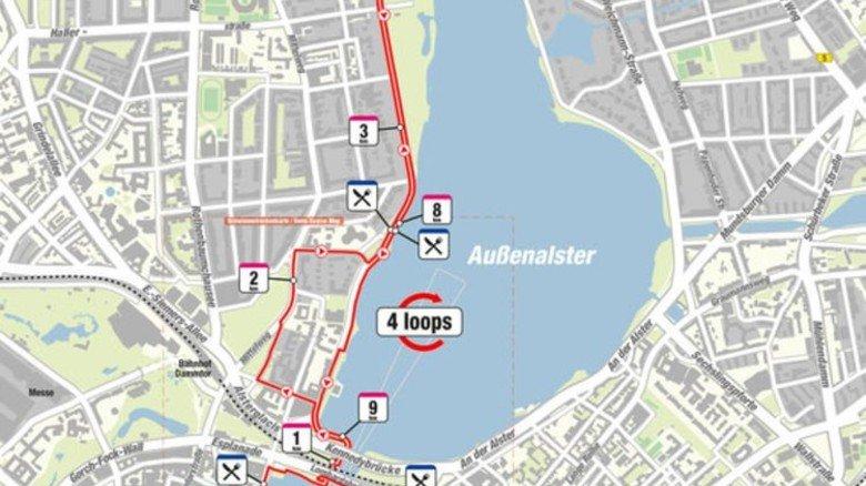 Am Ende mussten die Teilnehmer noch eine 42,2 Kilometer lange Laufstrecke absolvieren. Foto: Veranstalter
