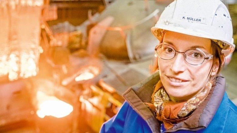 Brennt für ihren Job: Die Gießerei-Meisterin war 2010 die Jahrgangsbeste in ganz NRW. Foto: Roth