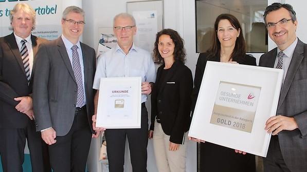 """Wurde mit """"Gold"""" ausgzeichnet: das Gesundheitsmanagement der Firma Paul Müller in Balve. Foto: Kolossa"""
