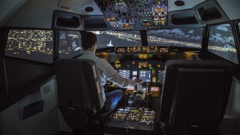 Piloten-Perspektive: Besucher haben wie hier in Hamburg einen täuschend echten Ausblick. Foto: Veranstalter
