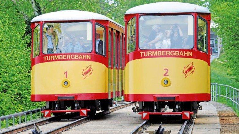 Turmbergbahn: Die älteste Standseilbahn Deutschlands gibt es in Karlsruhe. Foto: Veranstalter