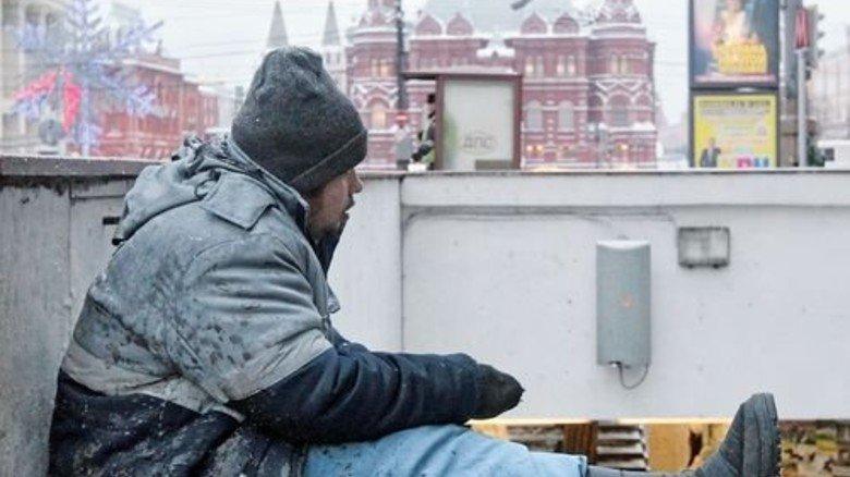 Bettler in Moskau: Die Krise hat Millionen Bürger in Arbeitslosigkeit und  Armut gestürzt. Foto: dpa